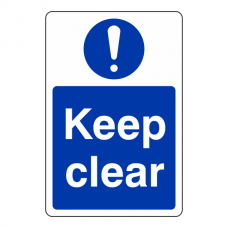 Keep Clear Sign (Portrait)