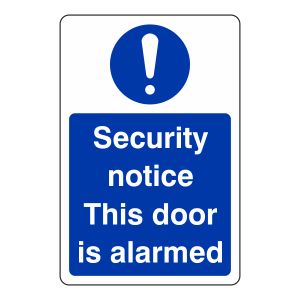 Security Notice This Door is Alarmed Sign (Portrait)