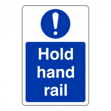 Hold Hand Rail Sign (Portrait)