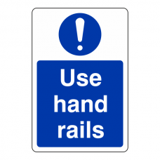 Use Hand Rails Sign (Portrait)
