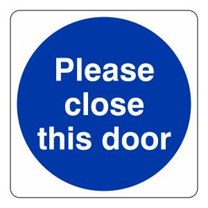 Please Close This Door Sign