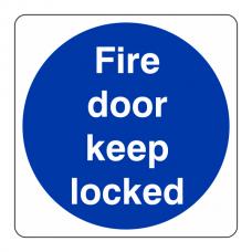 Fire Door Keep Locked Sign