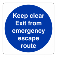 Exit From Emergency Escape Route Sign