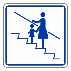 Face Direction Of Travel Escalator Sign (logo)
