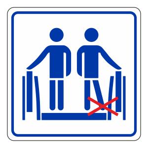 Keep Feet Away From Side Escalator Sign (logo)