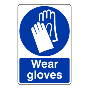 Wear Gloves Sign