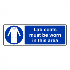 Lab Coats Must Be Worn Sign (Landscape)