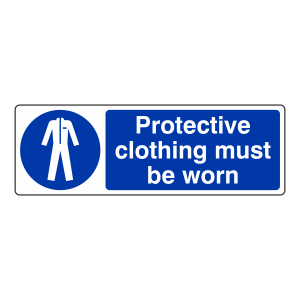 Protective Clothing Must Be Worn Sign (Landscape)
