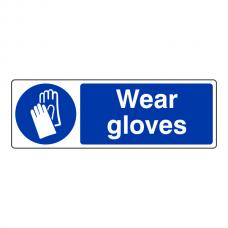 Wear Gloves Sign (Landscape)