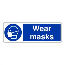 Wear Masks Sign (Landscape)