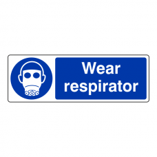 Wear Respirator Sign (Landscape)