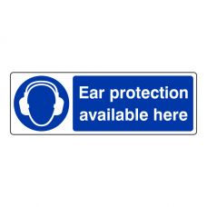 Ear Protection Available Here Sign (Landscape)