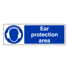 Ear Protection Area Sign (Landscape)