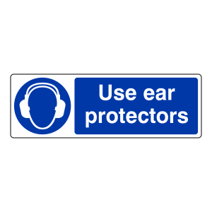 Use Ear Protectors Sign (Landscape)
