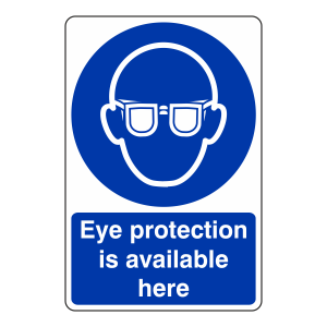 Eye Protection is Available Here Sign