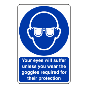 Your Eyes Will Suffer Sign