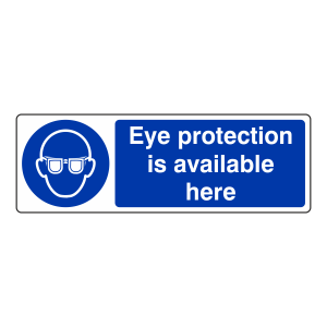 Eye Protection Is Available Here Sign (Landscape)