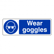 Wear Goggles Sign (Landscape)