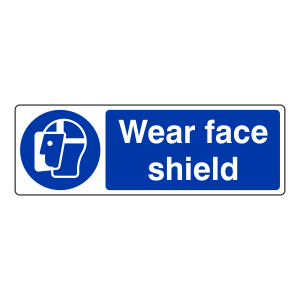 Wear Face Shield Sign (Landscape)