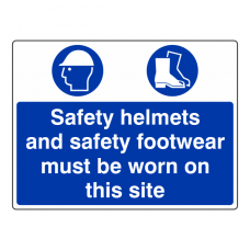 Safety Helmets And Footwear Must Be Worn Sign (Large Landscape)