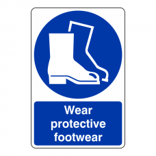 Wear Protective Footwear Sign