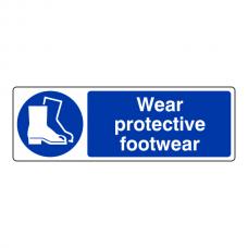 Wear Protective Footwear Sign (Landscape)