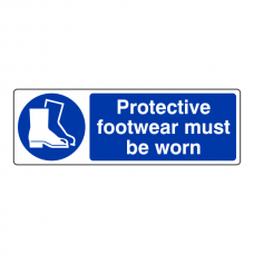 Protective Footwear Must Be Worn Sign (Landscape)