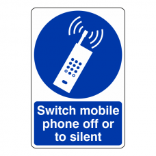 Switch Mobile Phone Off Or To Silent Sign
