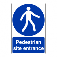 Pedestrian Site Entrance Sign