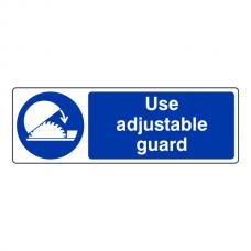 Use Adjustable Guard Sign (Landscape)