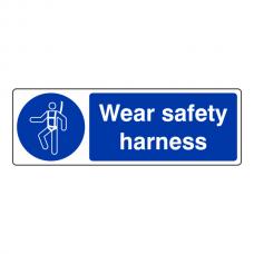 Wear Safety Harness Sign (Landscape)