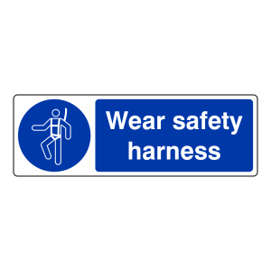 Wear Safety Harness Sign (Landscape)