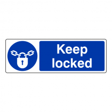 Keep Locked Sign (Landscape)