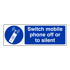 Switch Mobile Phone Off Or To Silent Sign (Landscape)