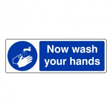 Now Wash Your Hands Sign (Landscape)