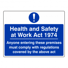 Health & Safety At Work Act 1974 Sign (Large Landscape)