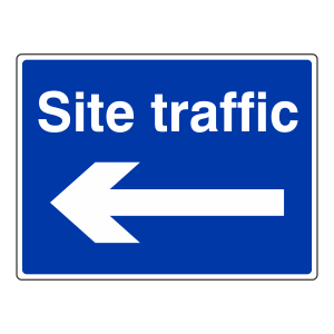 Site Traffic Arrow Left Sign (Large Landscape)