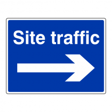 Site Traffic Arrow Right Sign (Large Landscape)