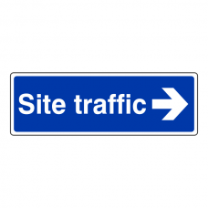 Site Traffic Arrow Right Sign (Landscape)