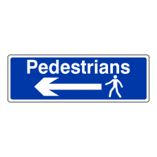 Pedestrians Arrow Left Sign (Landscape)