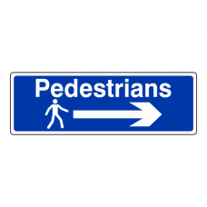 Pedestrians Arrow Right Sign (Landscape)