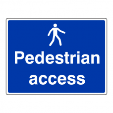 Pedestrian Access Sign (Large Landscape)