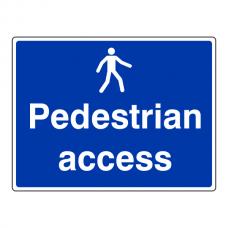 Pedestrian Access Sign (Large Landscape)