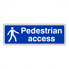 Pedestrian Access Sign (Landscape)