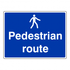 Pedestrian Route Sign (Large Landscape)