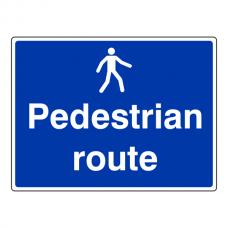 Pedestrian Route Sign (Large Landscape)