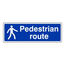 Pedestrian Route Sign (Landscape)