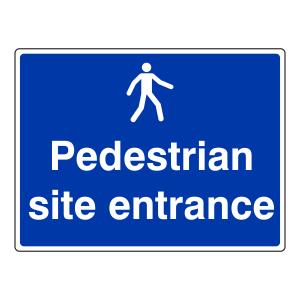 Pedestrian Site Entrance Sign (Large Landscape)