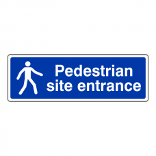 Pedestrian Site Entrance Sign (Landscape)