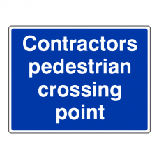 Contractors Pedestrian Crossing Point Sign (Large Landscape)